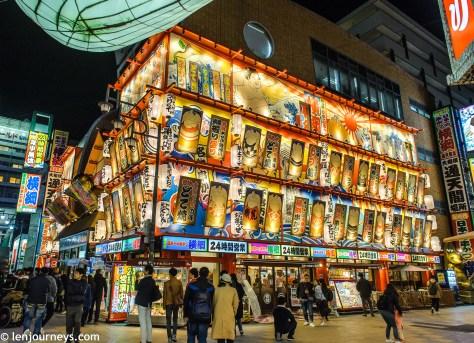 Beautiful shopfront at Osaka Shinsekai