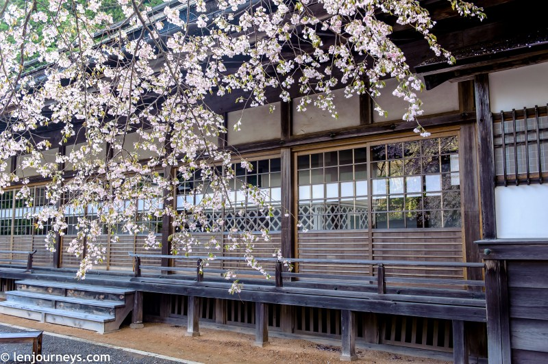 A Japanese ryokan features traditional architecture