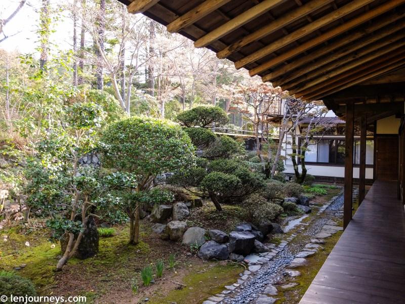 The garden of a ryokan
