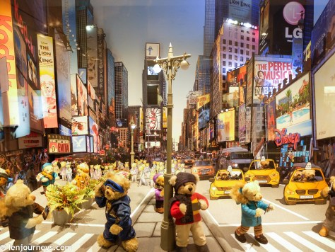 The Millenium Celebration at Time Square (Teddy bear version)