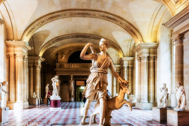 Art objects in the Louvre Museum