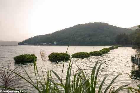Sun Moon Lake at dusk