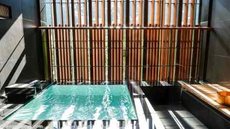 In-room hot spring bath