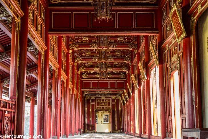 The restored hallway in Purple Forbidden City