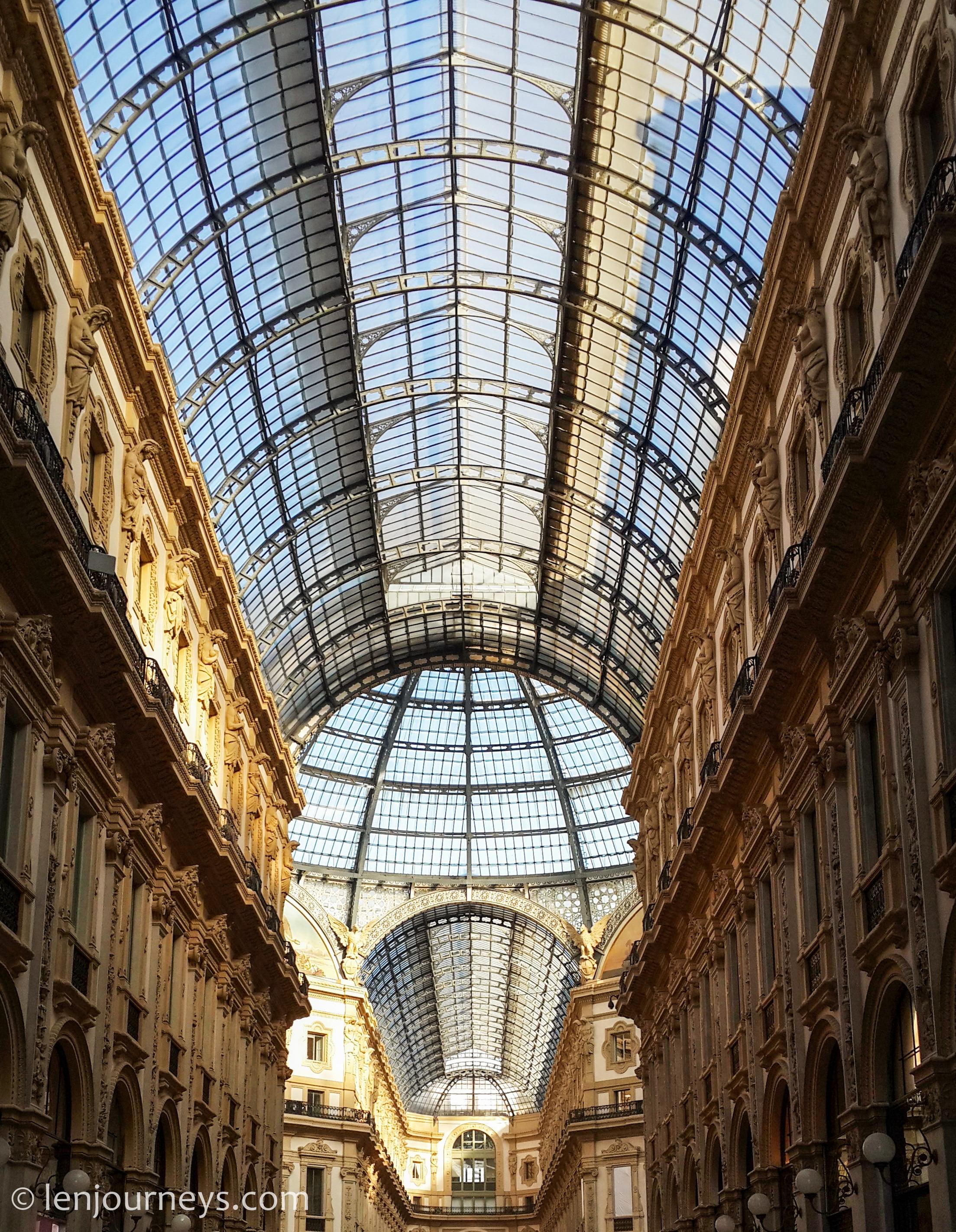 The glass roof of Galleria Vittorio Emanuele II