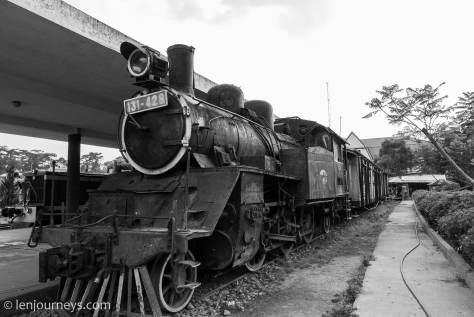 Historic train at Da Lat station