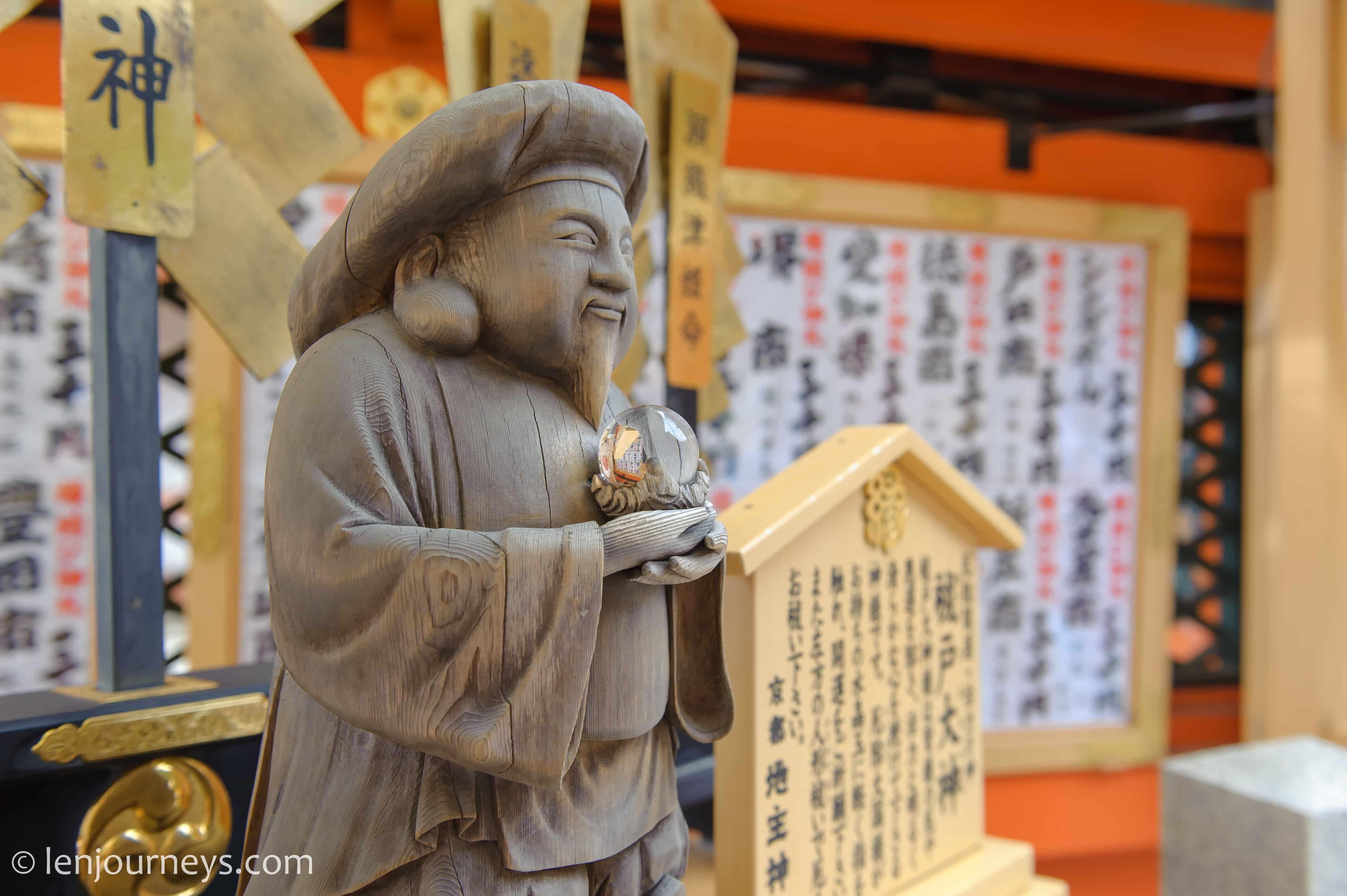 Lucky God at Kiyomizu-dera