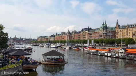Strandvägen-Beautiful boulevard lined with Renaissance-era buildings.