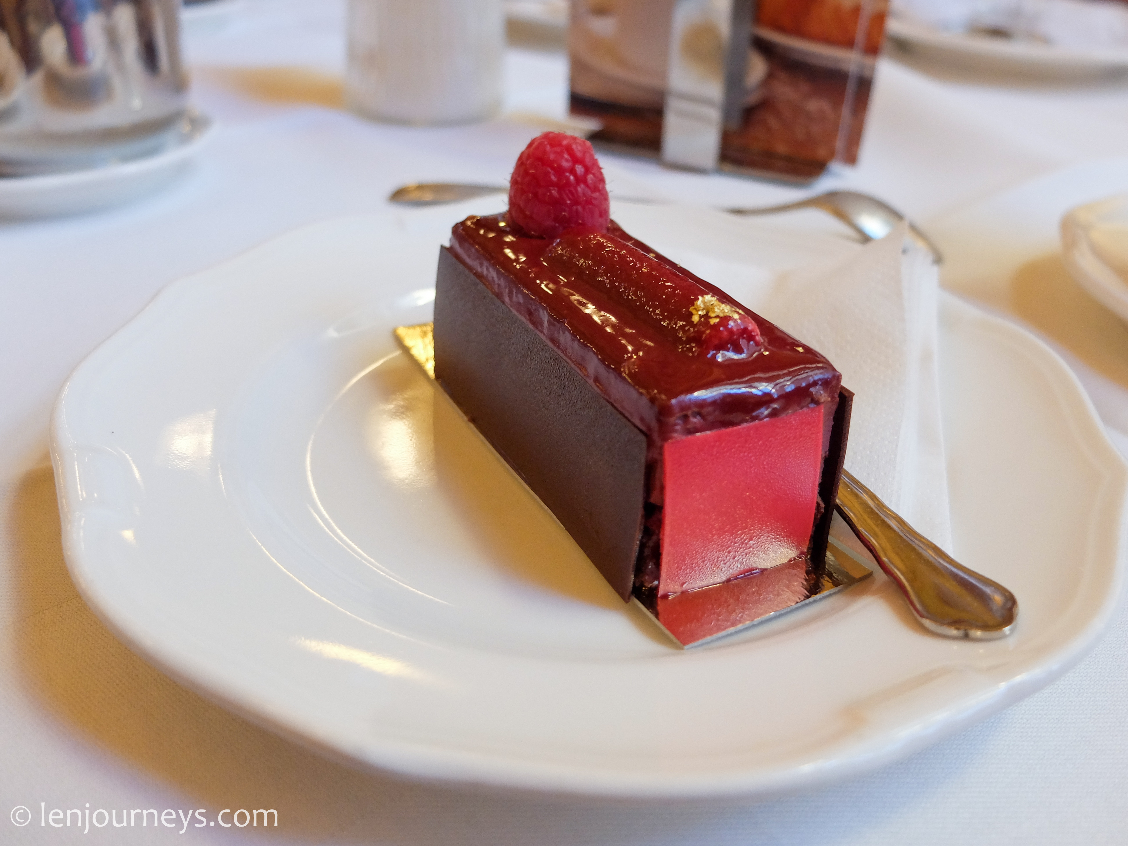 Raspberry Cake at Cafe Central