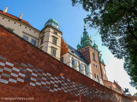 The wall of Wawel Castle, Cracow