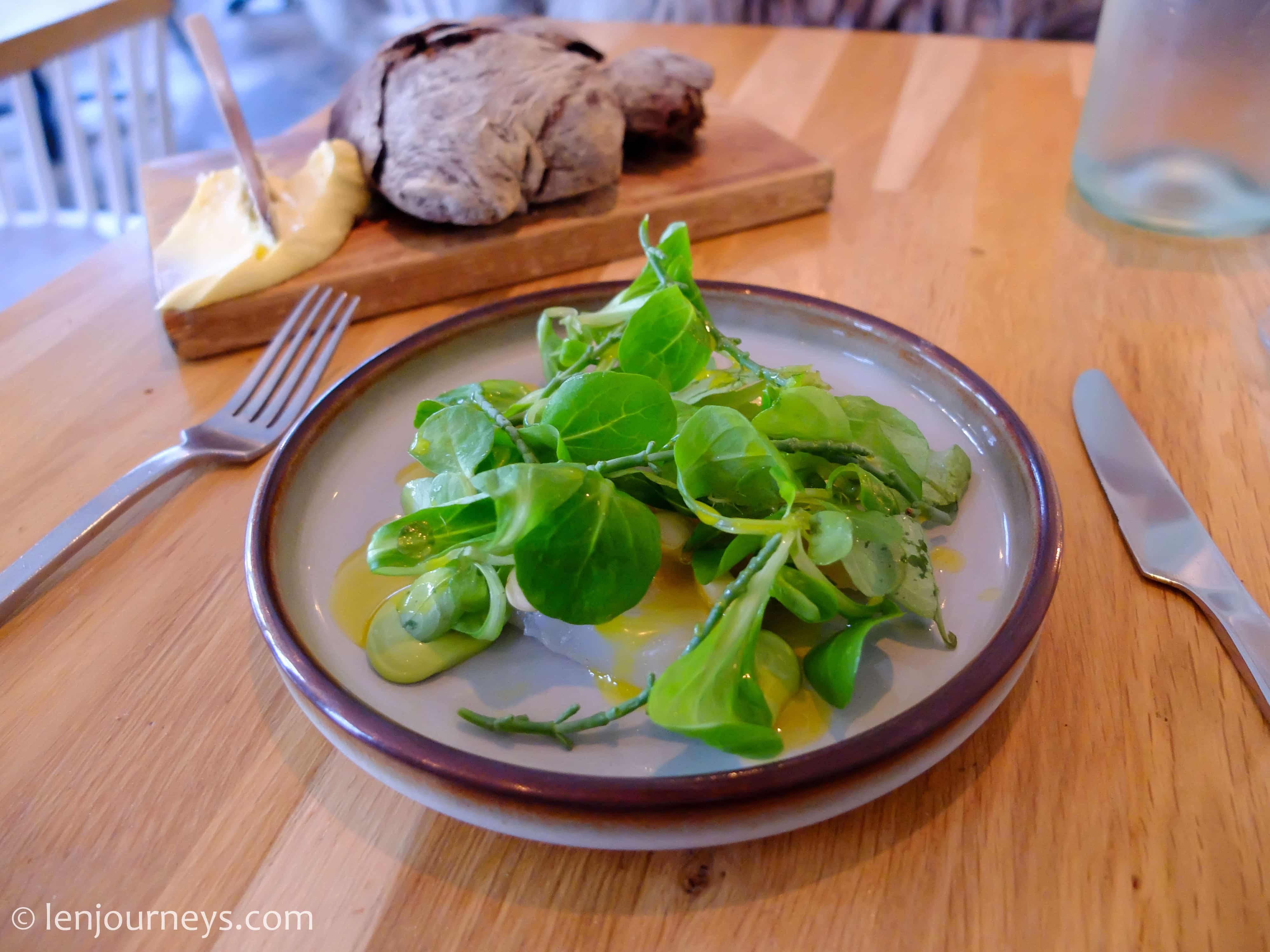 Salad at Pondus Restaurant