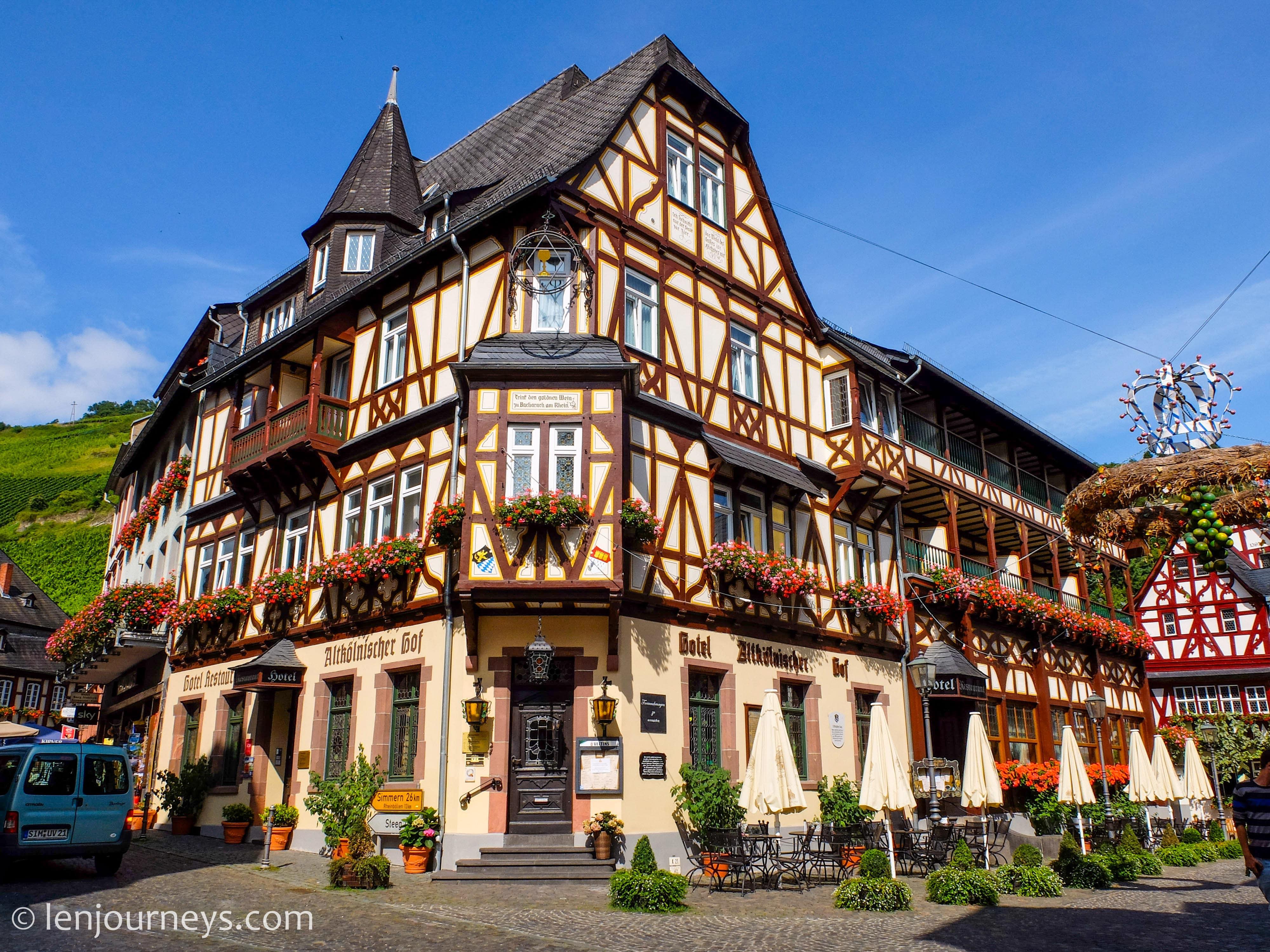 Half-timbered house in Bacharach, Rhineland