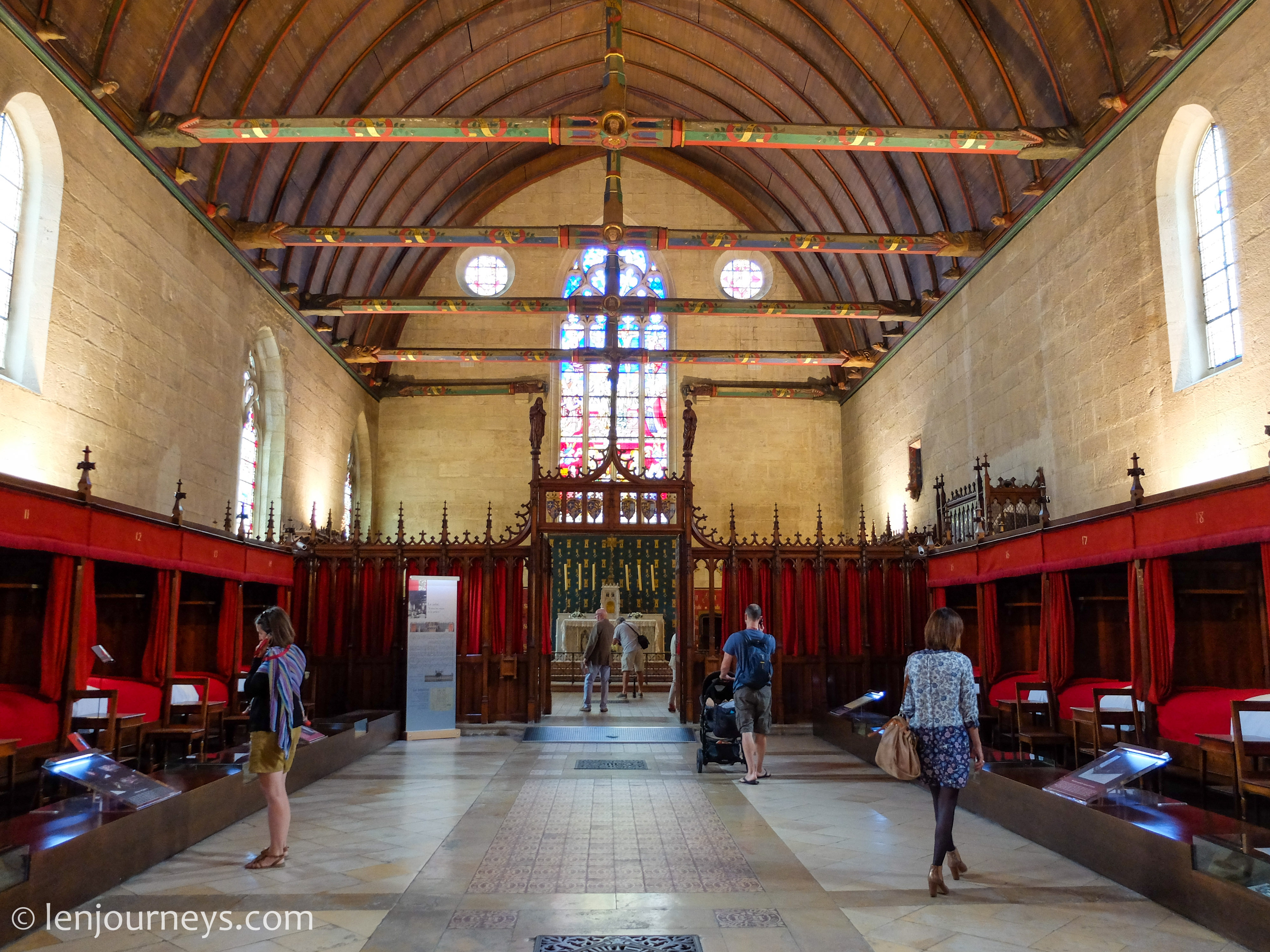 The hall of Hospices de Beaune