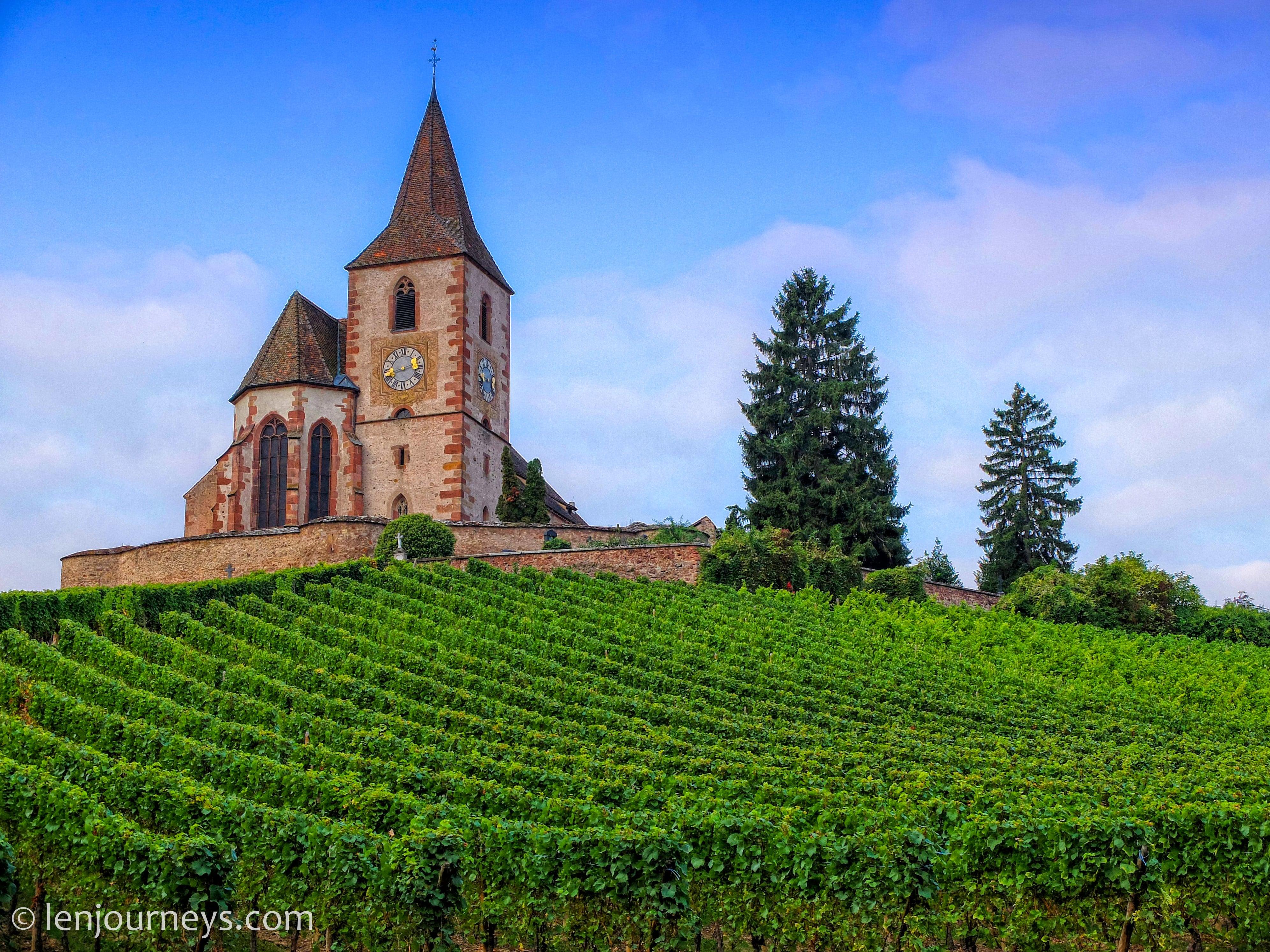 Church in Hunawihr, Alsace