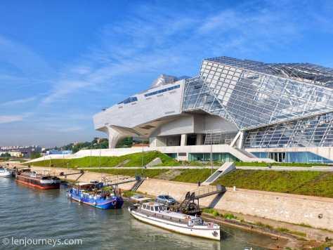 Futuristic architecture in Lyon