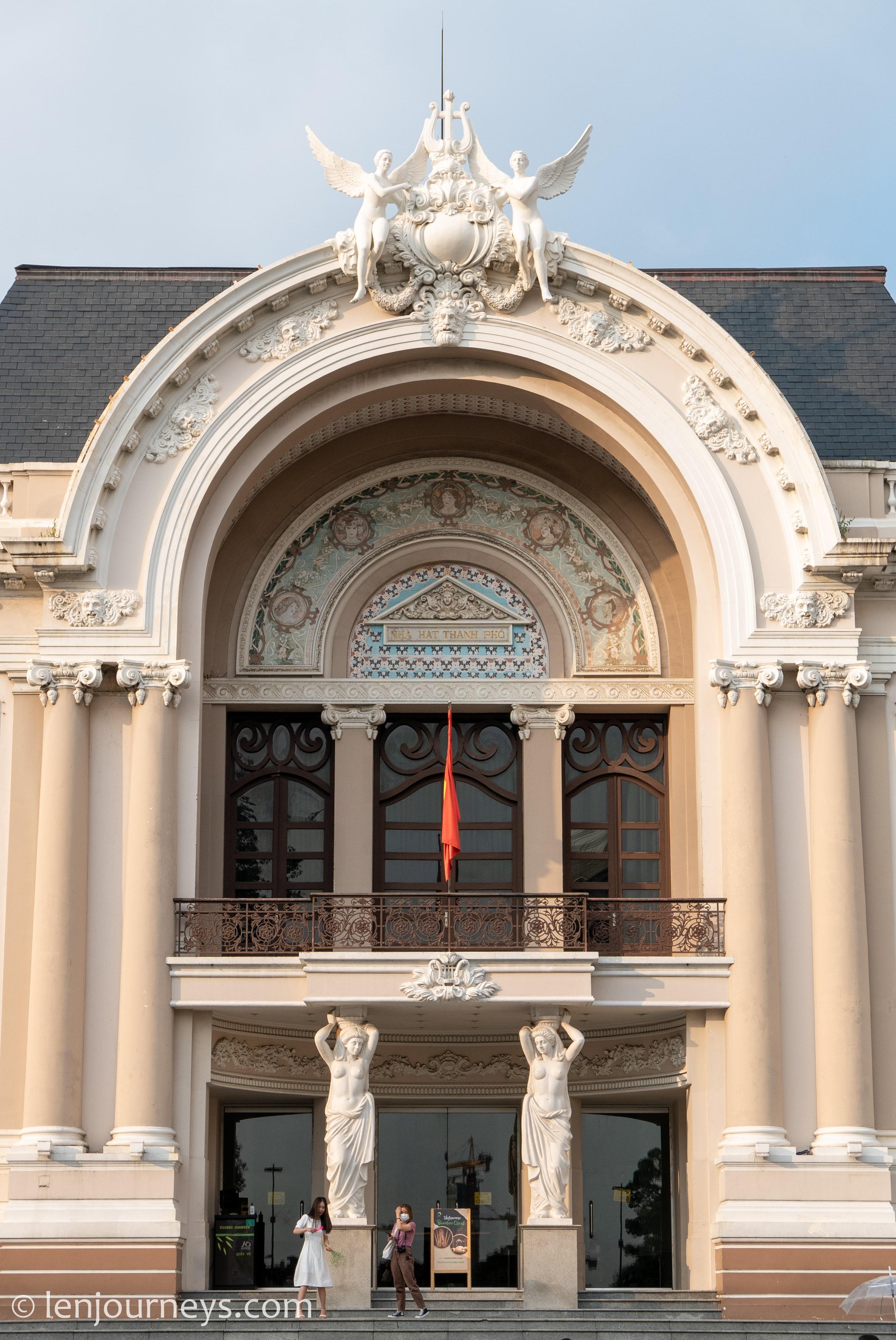 Magnificent façade of Saigon Opera House