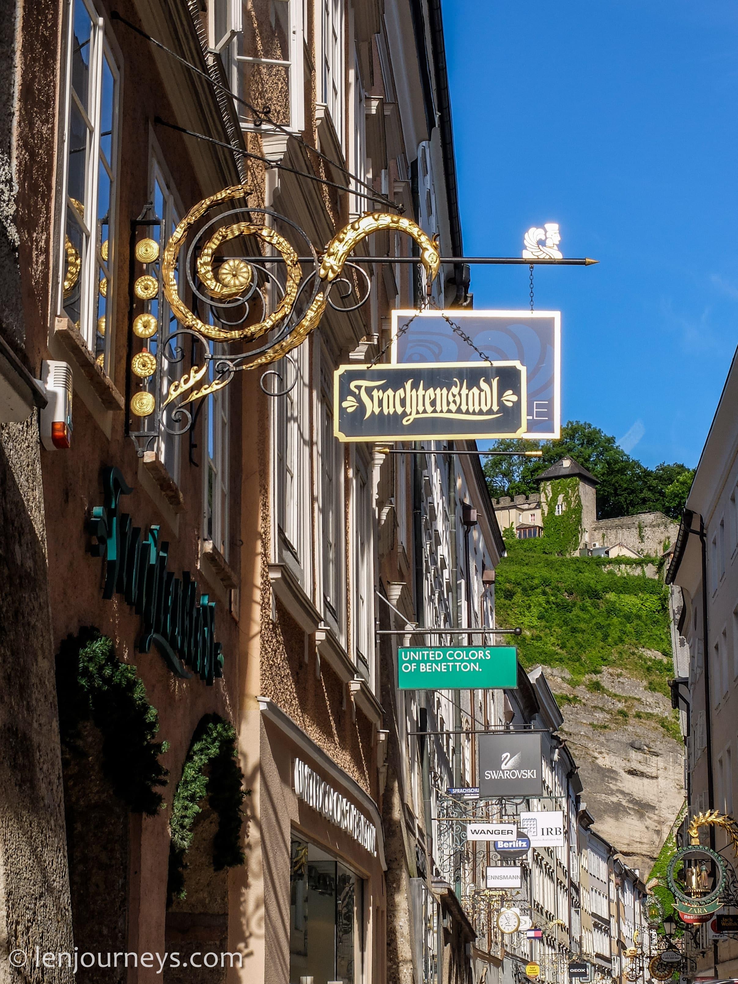 Street in Salzburg Old Town