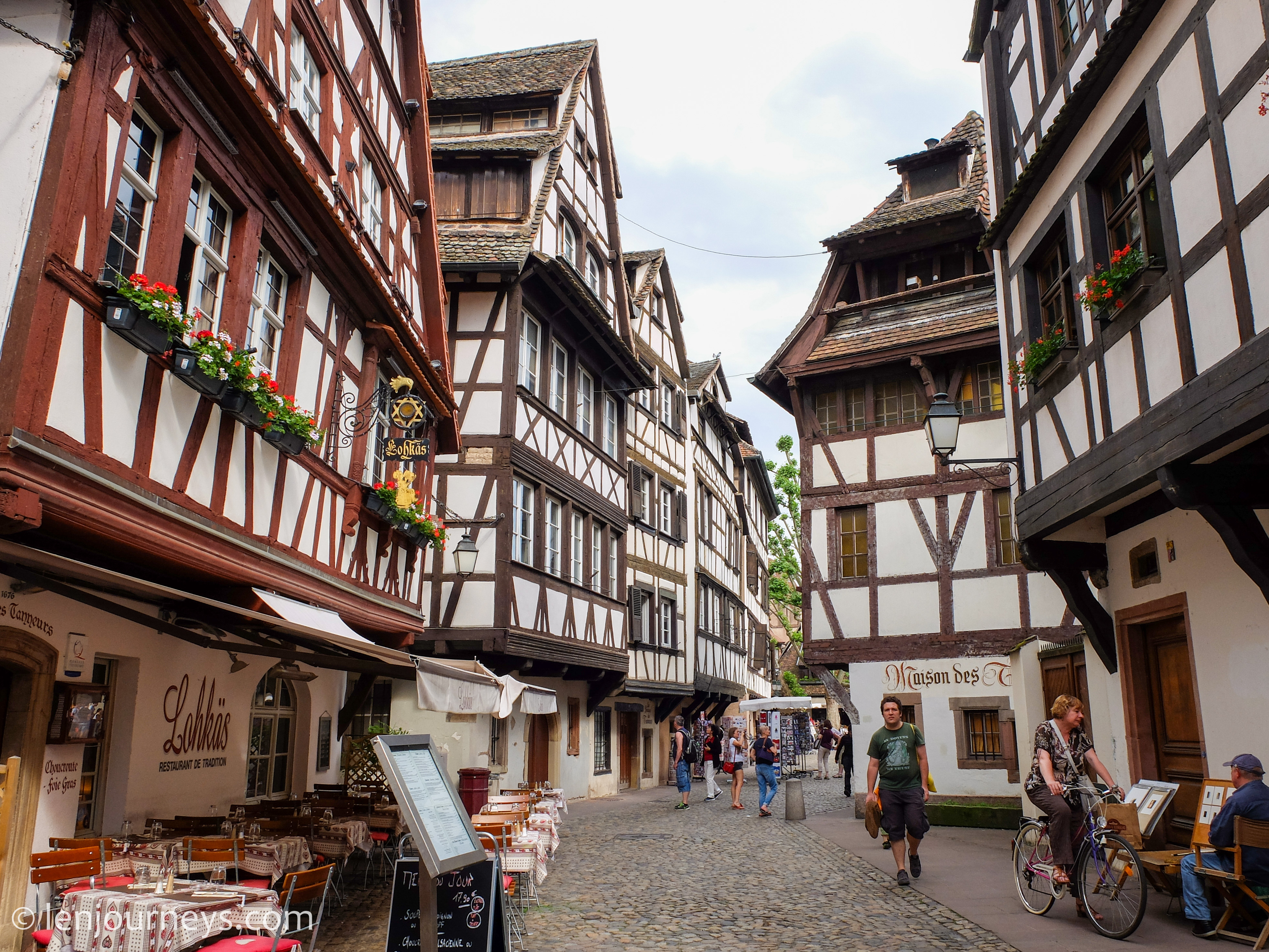 Half-timbered houses – the most remarkable feature of Grande Île