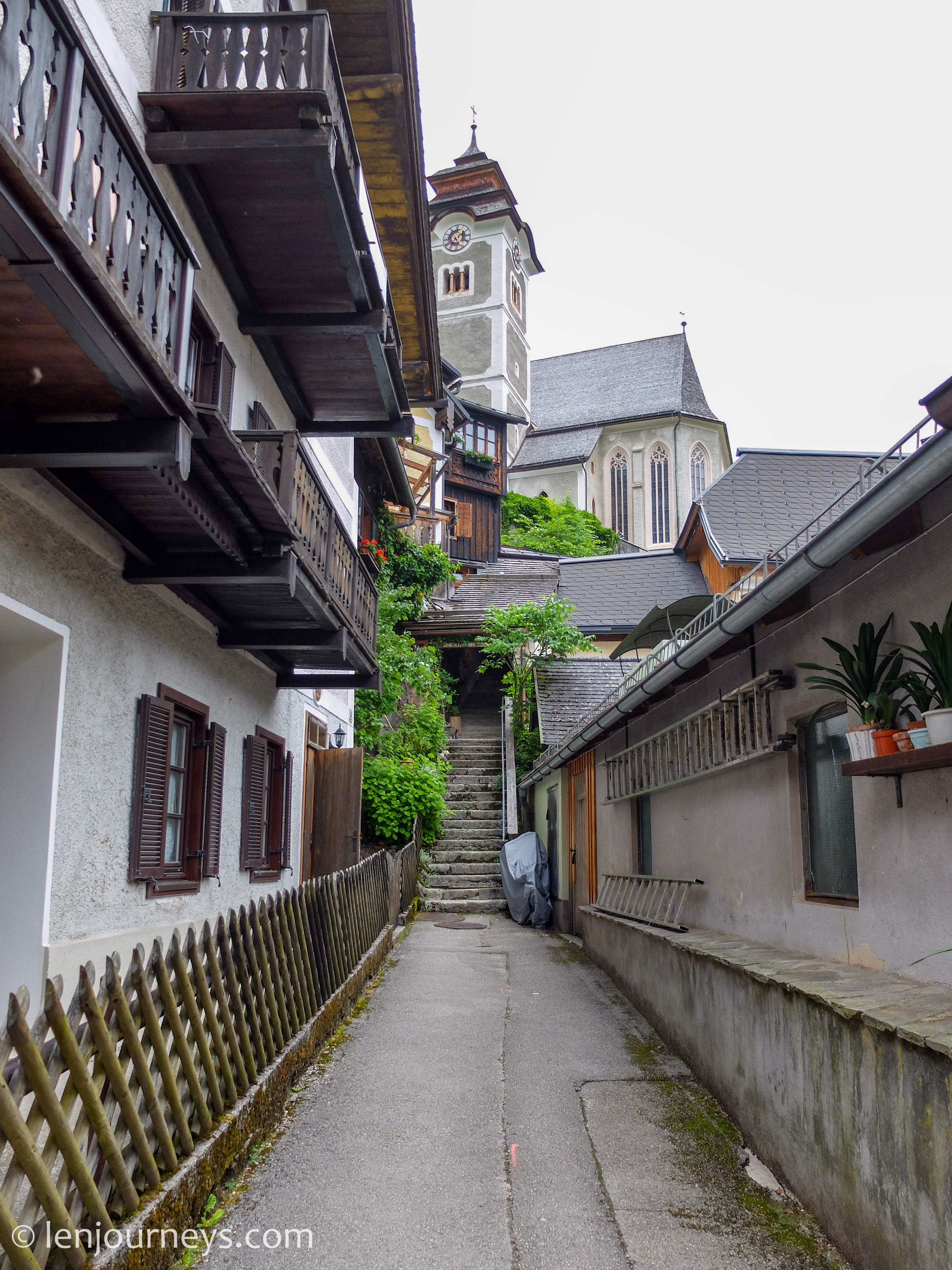 Alley leading to the church