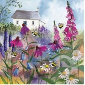 přání v obálce Včelí zahrada