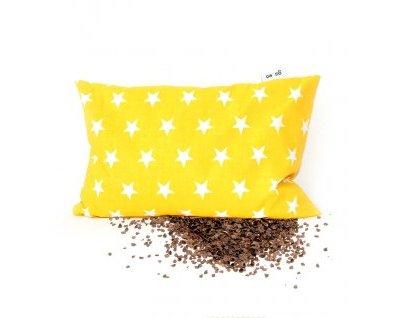 Pohankový polštářek HVĚZDA žlutý malý Gadeo