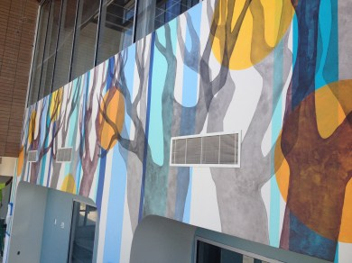Canope, 2016, Mural for West Jordan Health Clinic, app. 6x72 ft