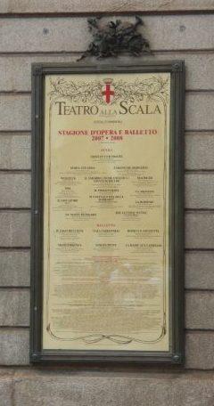 divadlo Teatro alla Scala, Miláno, Taliansko