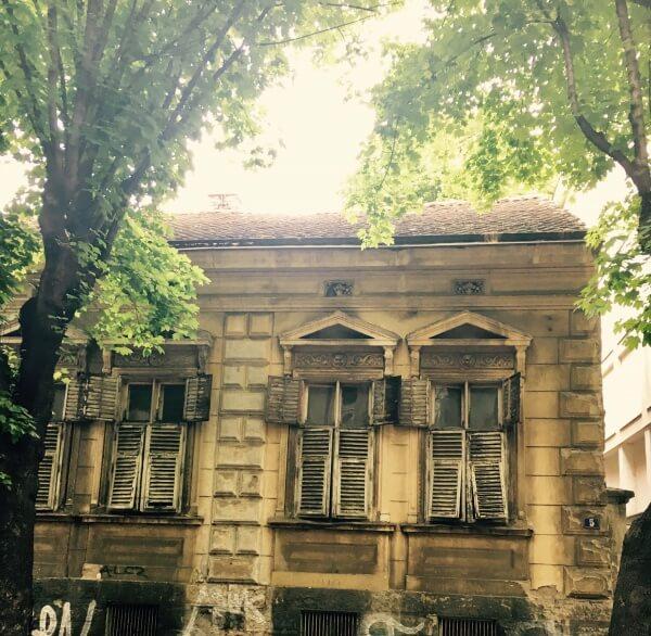 opustený dom, Belehrad, Srbsko