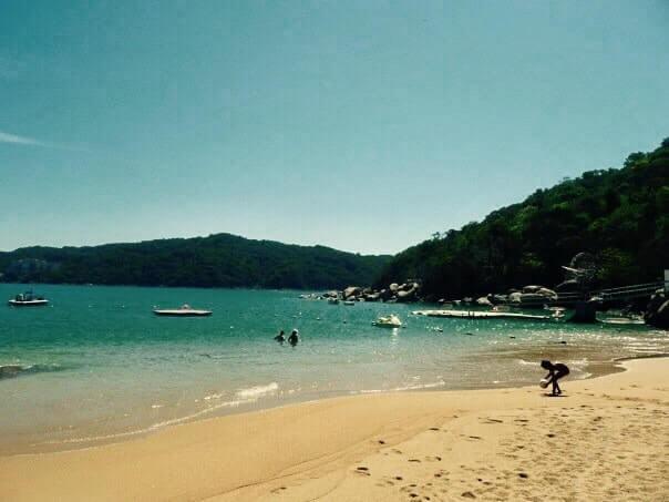 pláž, hotel Camino Real, Acapulco, Mexiko