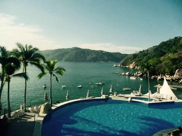 bazén, hotel Camino Real, Acapulco, Mexiko
