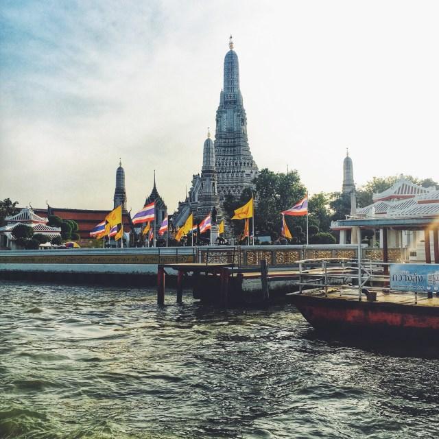 Budhistický chrám, Chrám svitania, Wat Arun, Bangkok, Thajsko