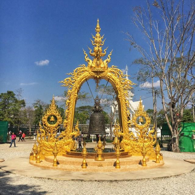 Zlatý chrám, Golden Temple, Chiang Rai, Thajsko