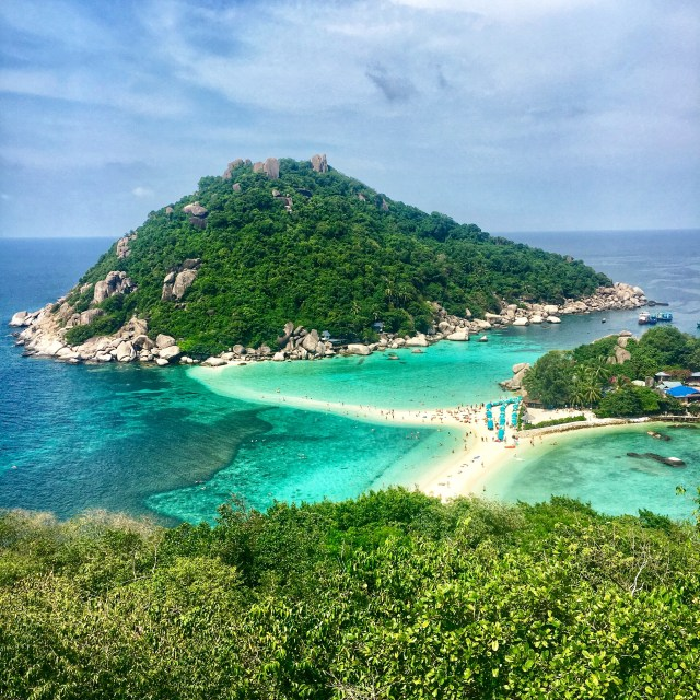 výhľad, Ostrov Koh Nang Yuan, Thajsko