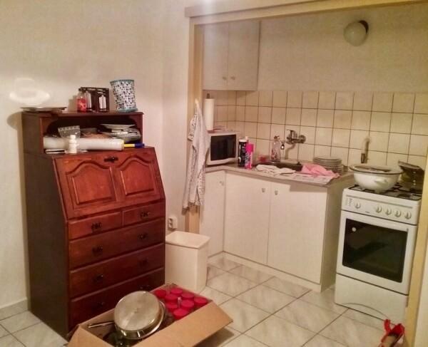stará kuchynská linka, starý kuchynský kút