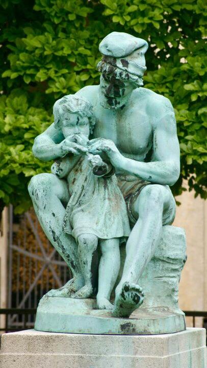 bronzová socha, Kodaň, Dánsko