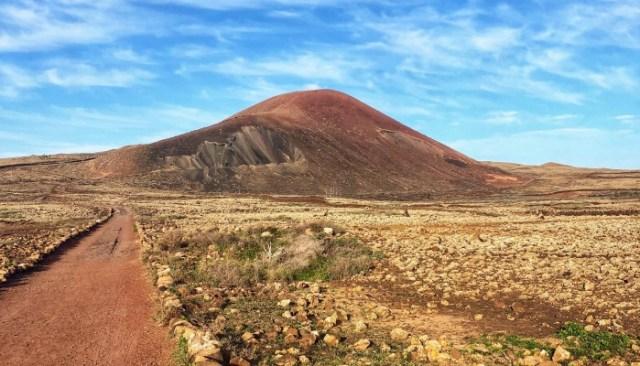 sopka Calderon Hondo, Fuerteventura, Kanárske ostrovy, Španielsko