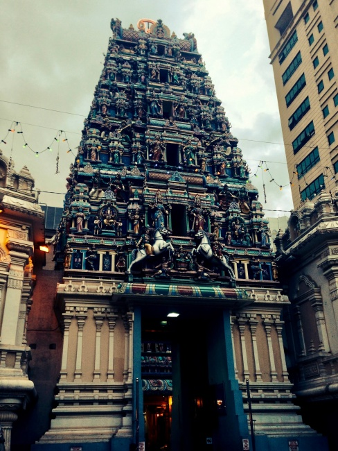 hinduistický chrám Sri Maha Mariamman, Kuala Lumpur, Malajzia