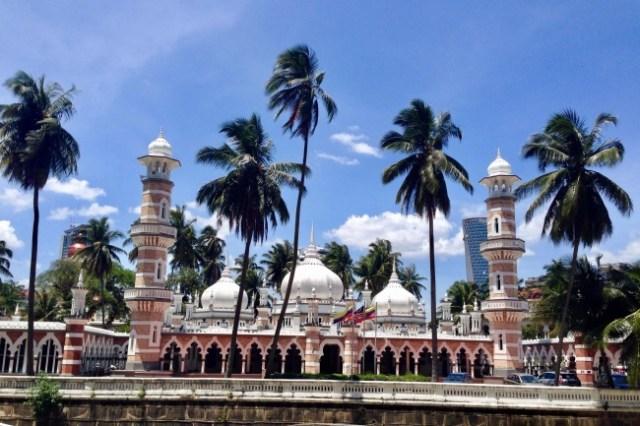 Mešita Masjid Jamek, Kuala Lumpur, Malajzia