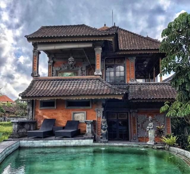 ubytovanie Ala's Green Lagoon s bazénom, Ubud, Bali, Indonézia, tradičný balijský štýl