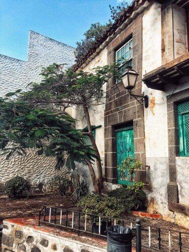 domy v Arucas, Gran Canaria, Kanárske ostrovy, Španielsko