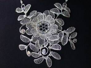 Silver Chantilly Necklace
