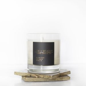The aroma of a candle sets the mood