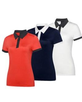 2019 New Summer Fashion Women Casual Short Sleeve Slim Crop Tops Polo Shirts (Copy)