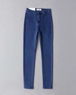 Wholesale price high stretch jean pants super skinny tight women high waist jeans leggings