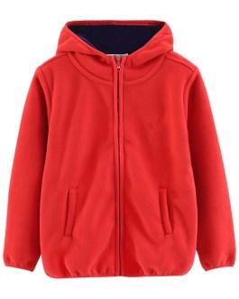 wholesale custom100% polyester polar fleece hoodies
