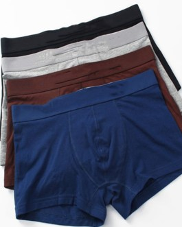Wholesale High quality 95%cotton and 5%spandex custom underwear men boxer