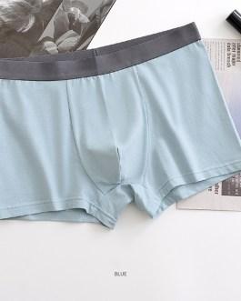Custom 95% combed cotton 5% spandex breathable comfortable underwear boxers men underwear