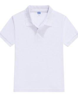 200gsm blending cotton pure color breathable OEM unisex kids clothes cheap plain blank children polo shirts