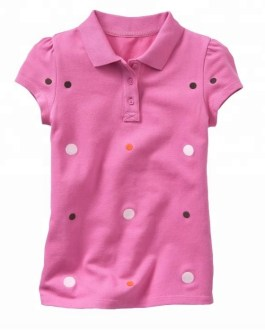 Printed Girls Summer Casual Cotton Short Sleeve Polo Shirt Collection