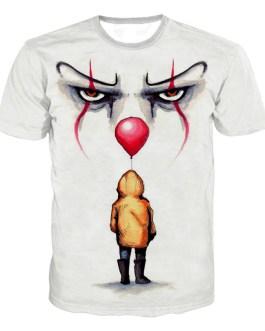 Joker Printing Men's Streetwear Short Sleeve T Shirt